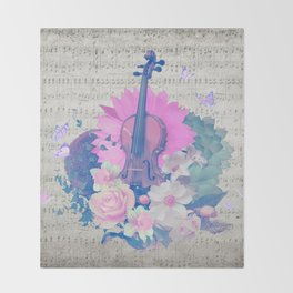 "VIOLIN by collection ""Music"" Throw Blanket"