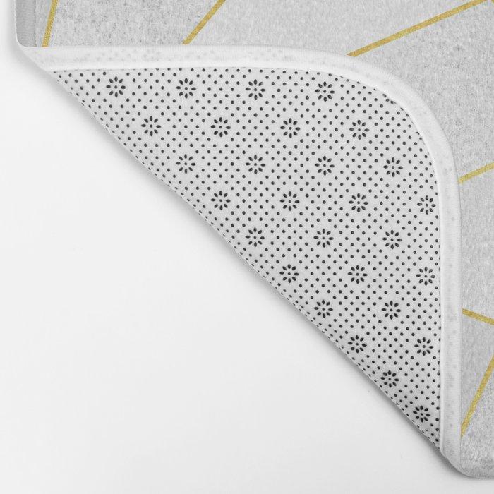 White Stone Bath Mat by elisabethfredriksson | Society6