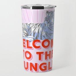 welcome to the jungle - retro tiger Travel Mug
