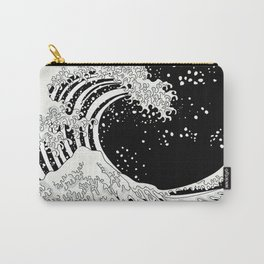 Black and White Great Wave Carry-All Pouch