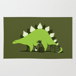 Crude oil comes from dinosaurs Rug