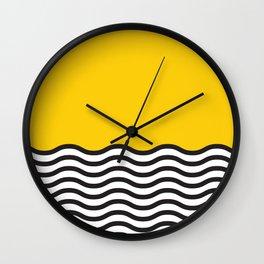 Waves of Yellow Wall Clock