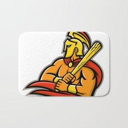 Trojan Warrior Baseball Player Mascot Bath Mat