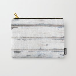Old Painted Planks In Fog, Wood Texture Decor Carry-All Pouch