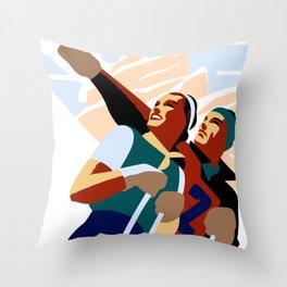 Hashtag ski fun Throw Pillow