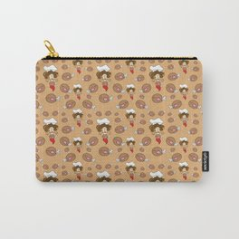 chef with fried chicken thigh tie Carry-All Pouch