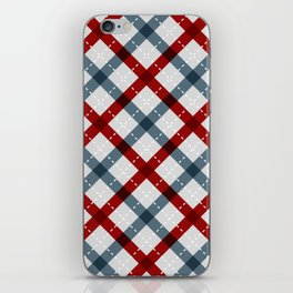 Colorful Geometric Strips Pattern - Kitchen Napkin Style iPhone Skin