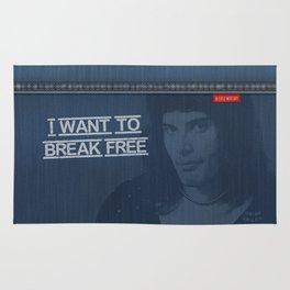 Denim Jeans - I Want To Break Free & F.Mercury Rug