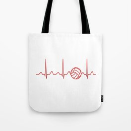 VOLLEYBALL HEARTBEAT Tote Bag