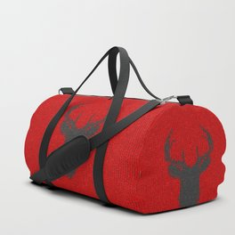 Antiallergenic Hand Knitted Deer Winter Wool Texture - Mix&Match with Simplicty of life Duffle Bag
