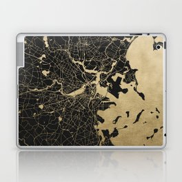 Boston Gold and Black Invert Laptop & iPad Skin