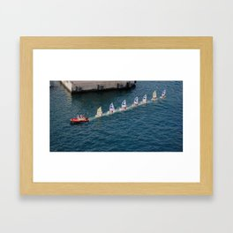 Line of Sails Framed Art Print