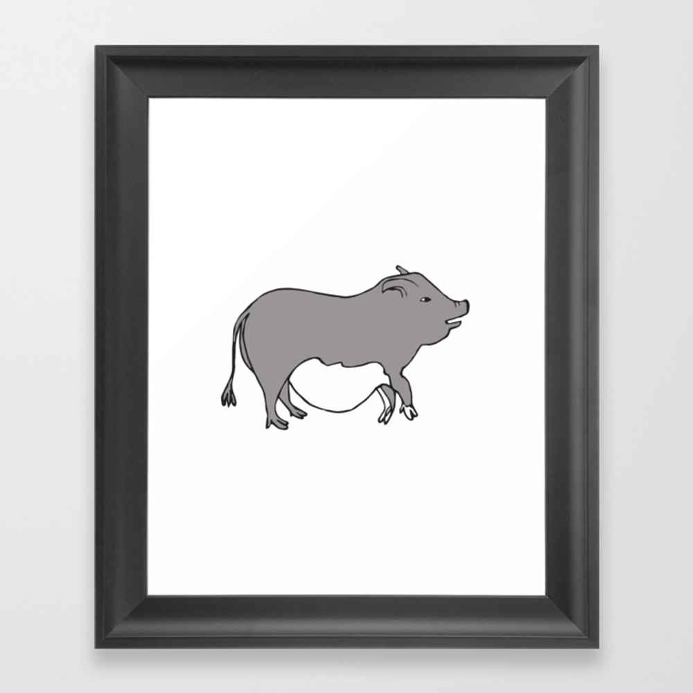 Cute Potbelly Pig Framed Art Print by Fruitflypie FRM8693772