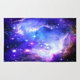 Galaxy Nebula Blue Rug