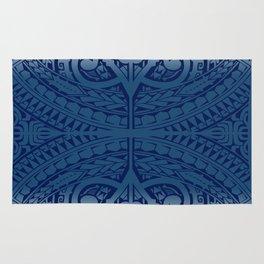 Monochromatic Polynesian Tribal design Rug