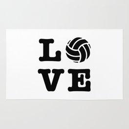 I Love Volleyball Rug