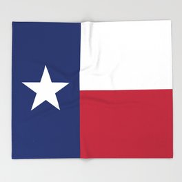 Texas State Flag, Authentic Version Throw Blanket