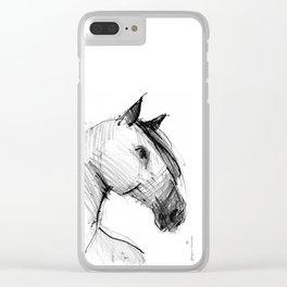 Horse (a head) Clear iPhone Case