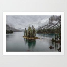 Landscape Maligne Lake Photography   Alberta   Canada Art Print