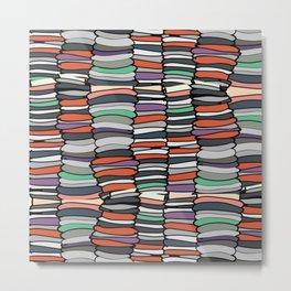Colorful Books Metal Print