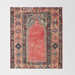 Sivas  Antique Cappadocian Turkish Niche Kilim Print Throw Blanket