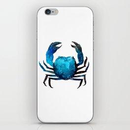 Cerulean blue Crustacean iPhone Skin