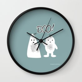 Boo! Funny Ghosts Wall Clock