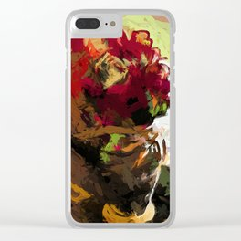 Rose Cathartica Graffiti Vase Flower Maelstrom Clear iPhone Case