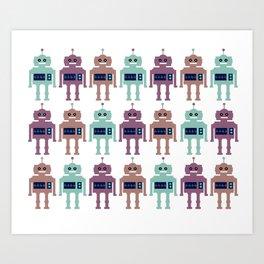 Vintage Toy Robots Art Print