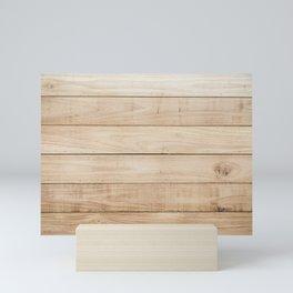 Wood plank texture 2 Mini Art Print