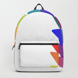 Geo-Stacked Rainbow Backpack