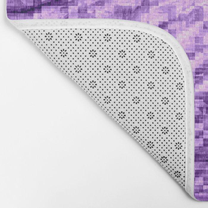 Purple Pixels Wind Bath Mat