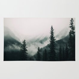 Over the Mountains and trough the Woods -  Forest Nature Photography Rug