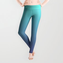 Ultra Violet Teal Ombre Gradient Pattern   Trendy color of the Year 2018 Leggings
