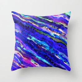Beneath Blue Waves Throw Pillow