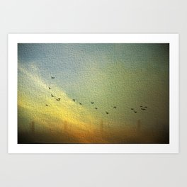 flight and fences Art Print