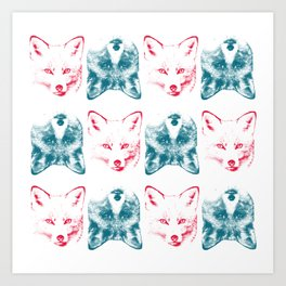 Foxes are Flipping Art Print
