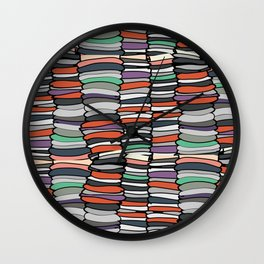 Colorful Books Wall Clock