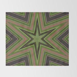 Green Star Throw Blanket