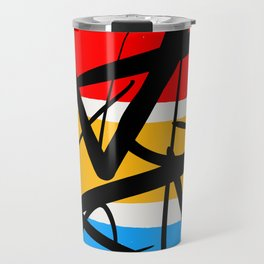 Synchronicity Abstract Art Minimalist in the zen spirit Travel Mug