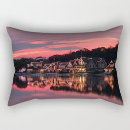 Philadelphia Boathouses Rectangular Pillow