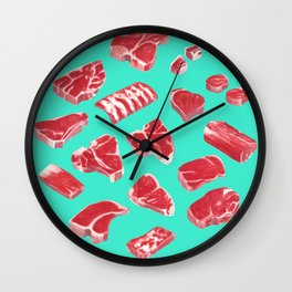MEAT MARKET, by Frank-Joseph Wall Clock