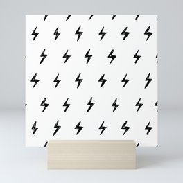 Lightning Bolt Pattern Mini Art Print