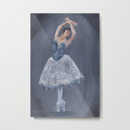 White Ballerina Metal Print