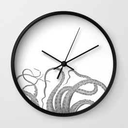 Vintage kraken octopus tentacles nautical antique sea creature steampunk graphic print Wall Clock