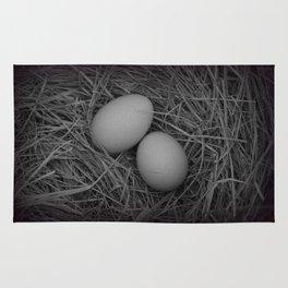 B&W Eggs Rug