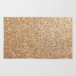 Copper Rose Gold Metallic Glitter Rug