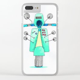 we love vespa Clear iPhone Case