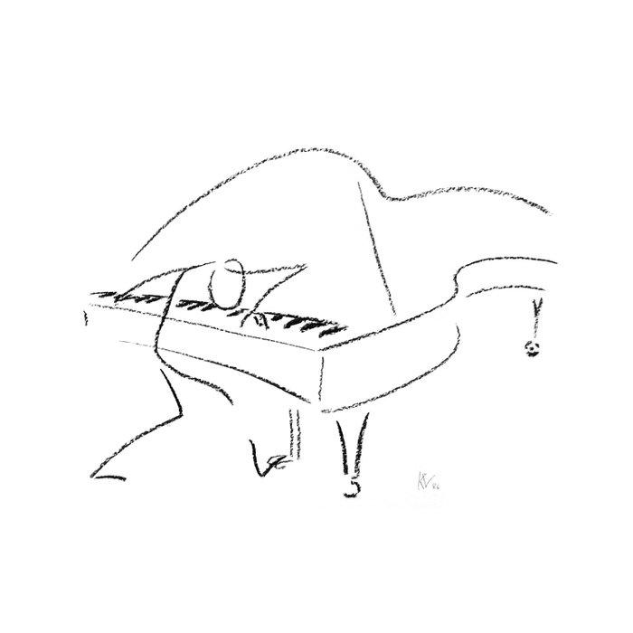 Keith Jarrett – Improvisations in Jazz Duvet Cover