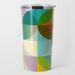 mid century geometry vibrant colors Travel Mug